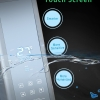 A7 brushed silver smart shower panel touch control